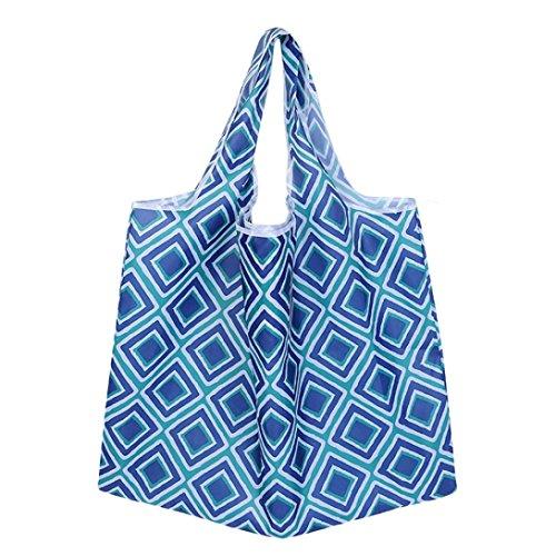 Hunpta@ Women Shopping Travel Shoulder Bags Folding Eco Grocery Handbag Tote Pouch Bag (E) I