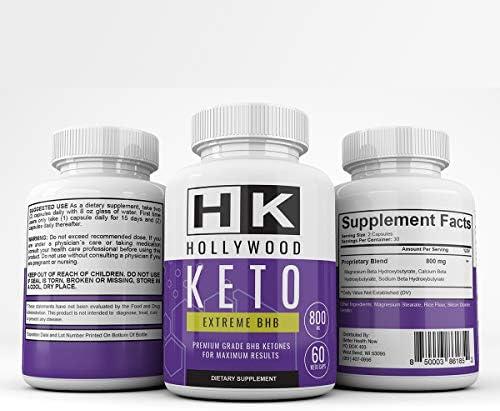 HK - Hollywood Keto Exteme BHB - Premium Grade BHB Ketones for Maximum Results - 30 Day Supply 7