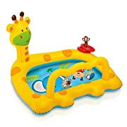 Intex Smiley Giraffe Inflatable Baby Pool, 44  X 36  X 28.5 , for Ages 1-3