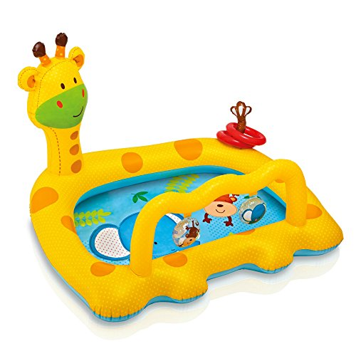 Intex Smiley Giraffe Inflatable Baby Pool, 44' X 36' X 28.5', for Ages 1-3
