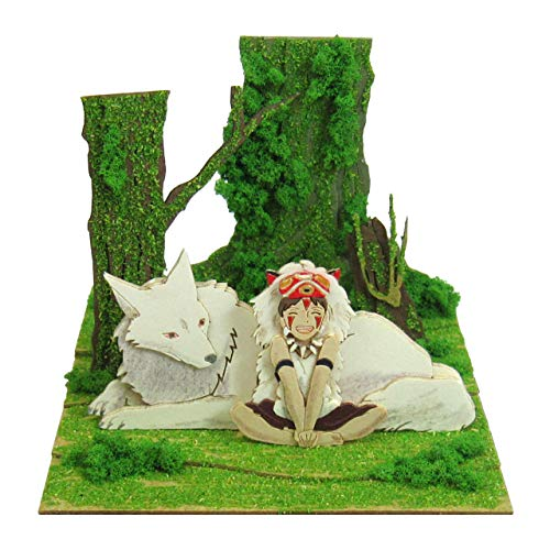 Sankei Studio Ghibli mini Princess Mononoke Hime San and wild dog scale papercraft MP07-45