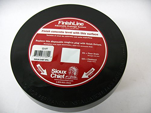 Sioux Chief Manufacturing 834-4P Sioux Chief 834-4PF 4 Inch PVC40 Adjustable Base 3 1/2 Inch Cleanout Plugs, Coring Sleeve and Head Adapter