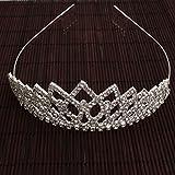 USA Seller Follsy Shining Rhombus Style Tiara Crown Headband Comb Pin Charming Beautiful Rhinestone Wedding Bridal Bride Party Birthday Tiaras