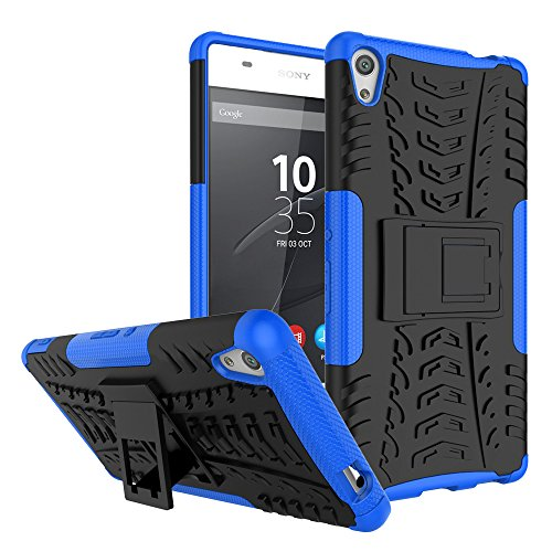 Sony Xperia XA Ultra Case, Nicelin Hard PC Material Cover and Silicone Inner Holder 2 in 1 Stand Case for Sony Xperia XA Ultra - [NOT for Xperia XA/Xperia X ] (Blue)