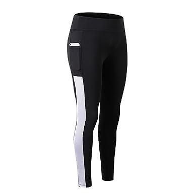 Sfit Femme Leggings Pantalon Collant avec Poche Yoga Fitness Jogging Gym  Élastique Stretch 4d16512a2ff
