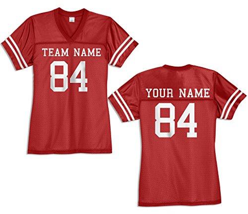 KAMAL OHAVA Custom Women's Replica Football Jersey, True Red/White, M ()