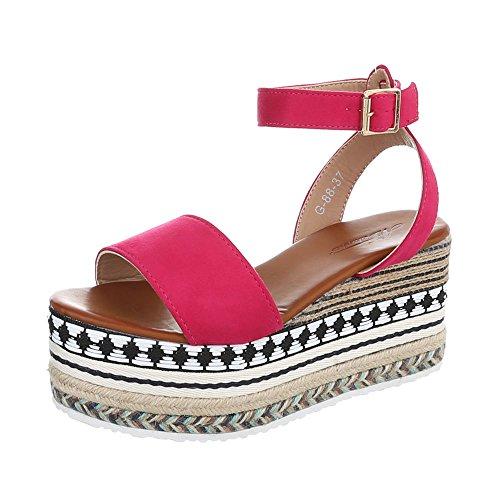Compensees 38 Sandales Sandales Femme Chaussures Compensé Pointure Rose Iv4wq