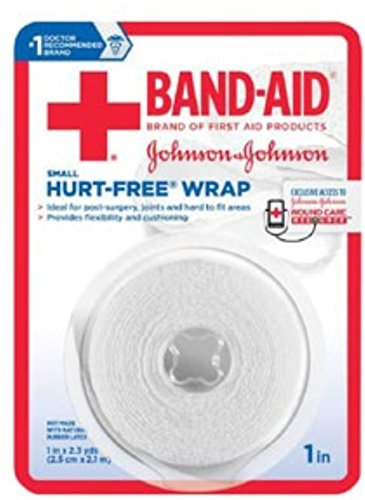 (JOHNSON & JOHNSON Band-Aid First Aid Hurt-Free Wrap 1 Inch X 2.3 Yards 2.30 Yards (Pack of 3))