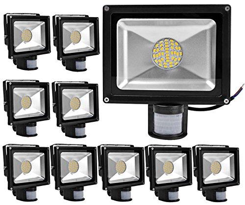10pcs 30W Iluminación SMD LED y PIR Sensor de Movimiento,ALPHA ...