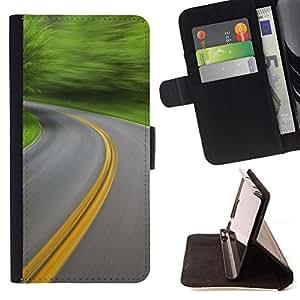 For Samsung Galaxy Note 4 IV - Nature Beautiful Forrest Green 162 /Funda de piel cubierta de la carpeta Foilo con cierre magn???¡¯????tico/ - Super Marley Shop -