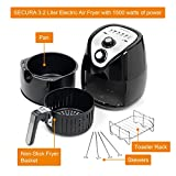 Secura-Electric-Hot-Air-Fryer-and-additional-accessories-RecipesToaster-rack-and-Skewers