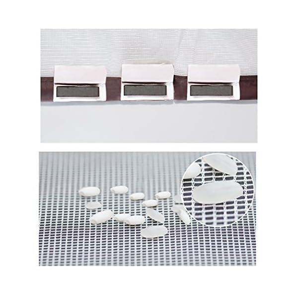 Zanzariera magnetica, Crittografato Tenda anti-zanzara Porta sullo schermo morbido magnetico Schermi di velcro… 6 spesavip