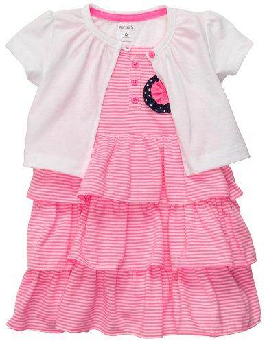 Carter's Flamingo Collection Stripe Dress Set (6 Months)