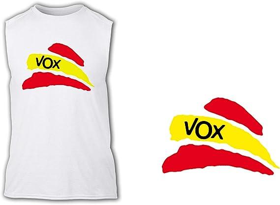 Camiseta SIN Mangas Partido VOX Bandera ESPAÑOLA Tshirt: Amazon.es ...