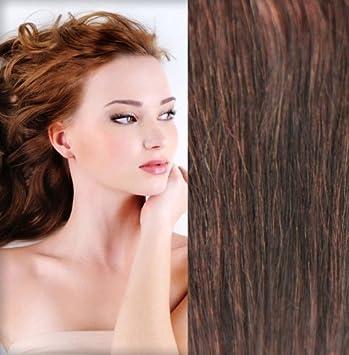 Gogodiva Clip In Hair Extensions 100 Human Remy Hair 33 Dark Auburn Colour 15 Inches Length 90