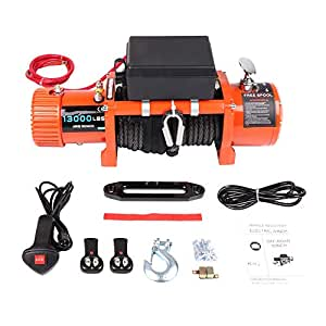 cciyu electric winch 12v 13000 lbs winches. Black Bedroom Furniture Sets. Home Design Ideas
