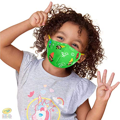Crayola Kids Reusable Cloth Face Mask Set, Crayon Characters, Back to School Supplies