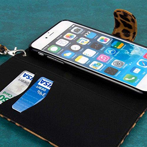 """MPERO FLEX FLIP Wallet Case Étui Coque for Apple iPhone 6 Plus 5.5"""" - Studded Leopard"""