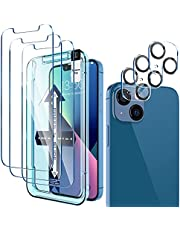 [ 3+3 Pack] LK 3Pack Screen Protector Compatible for iPhone 13 6.1-inch with 3Pack Camera Lens Protector, Anti-Scratch Easy-Installation,9H Hardness, HD Tempered Glass Film