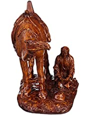 تمثال على شكل جمل للديكور من اتش اس جي - بني