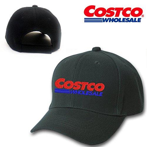 costco-wholesale-mart-black-embroidery-adjustable-baseball-cap-souvenier-gift-unique-hat