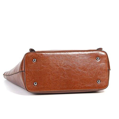 fashion LF en Sac Sac cuir à Marron DISSA portés femme main 8955 main épaule portés Sac qXwfdHY