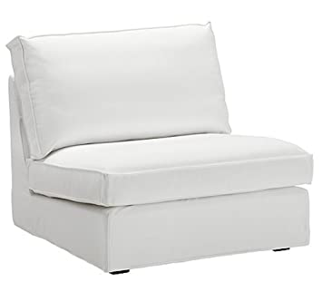 The Cotton Kivik Chair Cover Replacement Is Custom Made For Ikea Kivik Chair Slipcover, A One Seat Sofa Cover Replacement (White)
