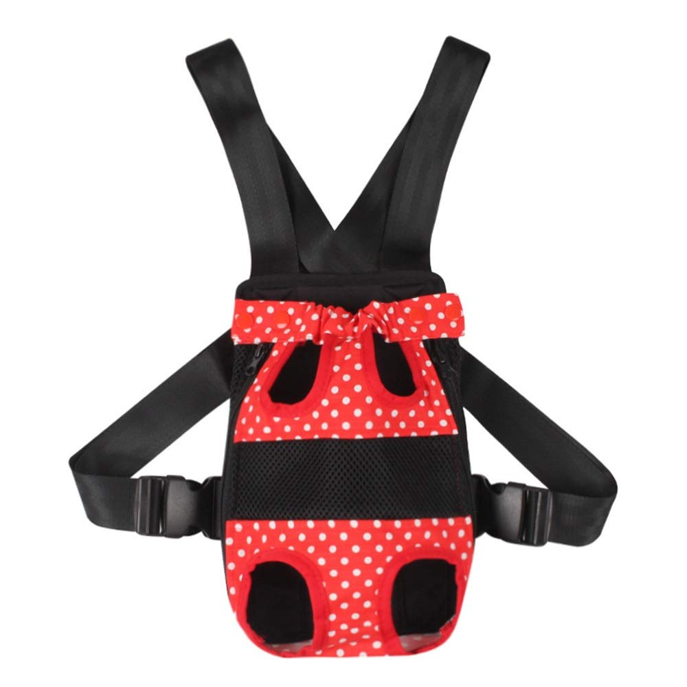Red S Red S HYUE Pet Dog Out Carrying Bag Backpack Fashion Breathable Pet Backpack Portable pet Travel Bag (color   Red, Size   S)