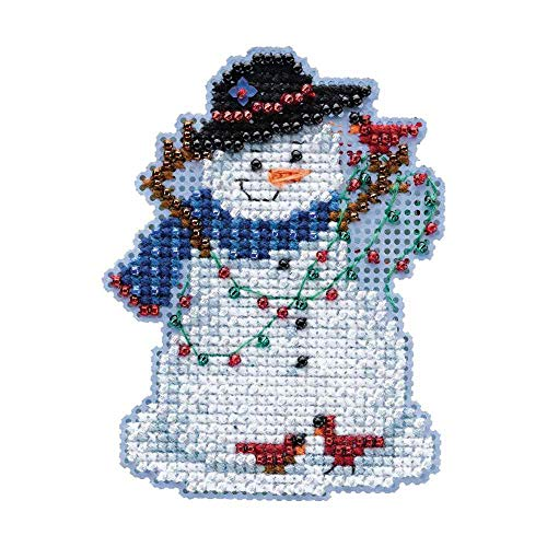 - Snow Fun Mill Hill Beaded Counted Cross Stitch Kit MH184301