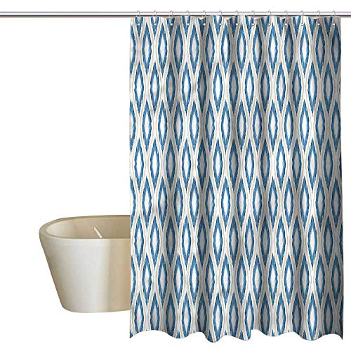 Denruny Shower Curtains for Bathroom Fish Asian,Nomadic Ikat PatternAbstract,W48 x L72,Shower Curtain for - Elf Nomadic