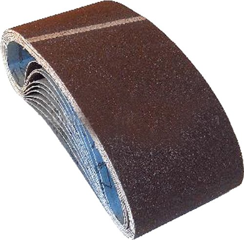 Hitachi 995570 4-Inch by 24-Inch Sanding Belt with CC120 Grit for SB10T, 10-Pack