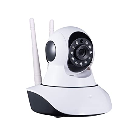 PXQWZ Wireless Plug & Play WiFi Cámara IP casera 720P Visión Nocturna Detección de movimiento remoto