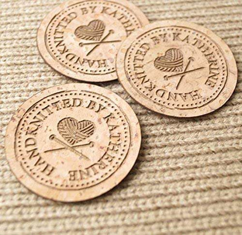 Amazon.com: Round Cork Leather Labels, Personalized
