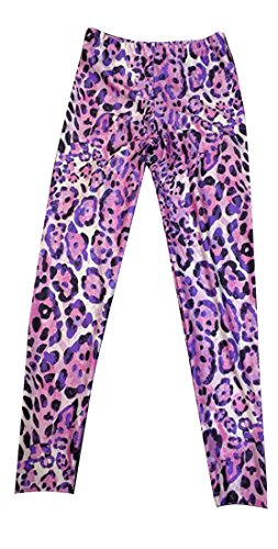 DanceNwear Little Girls Pink Cheetah Print Leggings ()
