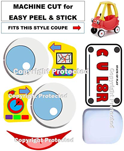 Peel Coupe - Compatible Replacement Decals Stickers Labels FITS Little Tikes Cozy Coupe Ride On Toy