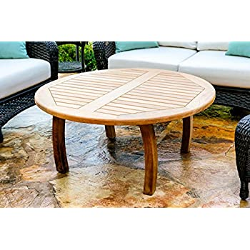 Amazon.com: Modway Marina Teak Wood Outdoor Patio Round ...