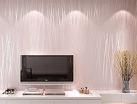Bloss 3d Modern Wallpaper Roll Pink Background For Living Room U0026 Bedroom  Home Decor     Amazon.com