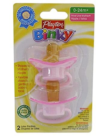 Playtex Baby Binky Most Like Mother Latex Pacifiers: Pink