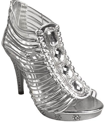 Delicacy Womens Teresa 58 Silver party shoe npUnxz