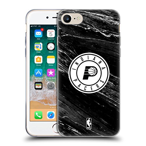 Official NBA B&W Marble Indiana Pacers Soft Gel Case for Apple iPhone 7 / 8 (B/w Iphone)