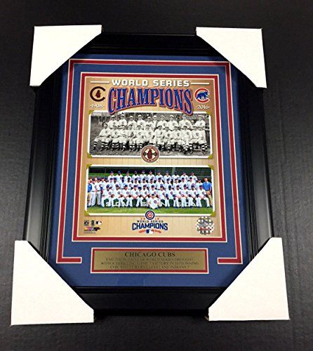 1908 2016 CHICAGO CUBS 2X WORLD SERIES CHAMPIONS TEAM FRAMED PHOTO 8X10