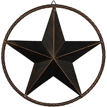 EBEI Barn Metal Star Wall Decor 17