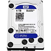 WD Blue 4TB  Desktop Hard Disk Drive - 5400 RPM SATA 6 Gb/s 64MB Cache 3.5-Inch  - WD40EZRZ