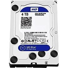 """WD Blue 4TB PC Hard Drive - 5400 RPM Class, SATA 6 Gb/s, 64 MB Cache, 3.5"""" - WD40EZRZ"""