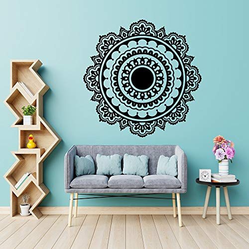 WSNDGWS Exquisite Mandala Buddhism India Wall Sticker for Living Room Removable Vinyl Stickers Mural House Decoration Wallpaper Yellow M 30cm X 29cm