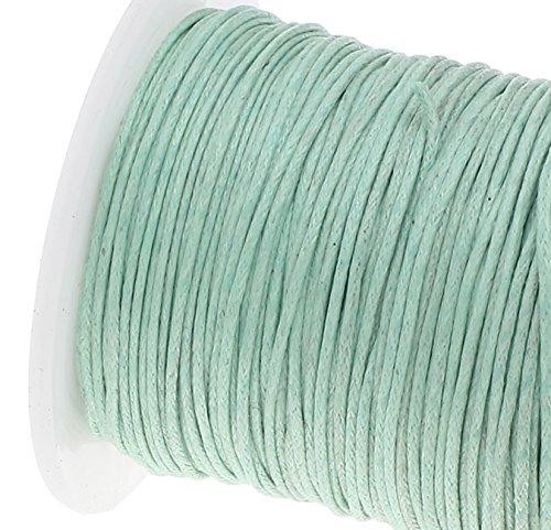 Perlin 75 m Gewachste Baumwollekordel Mintgr/ün 1mm Gewachst Schmuck Schn/üre Wachs F/äden ideal zur Schmuckherstellung C171