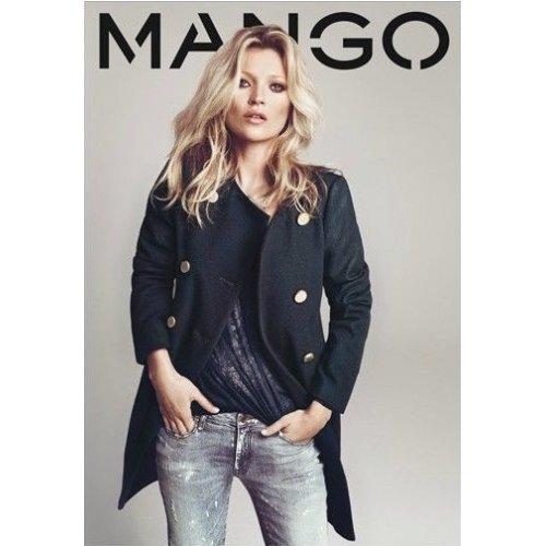 Manteau femme noir mango