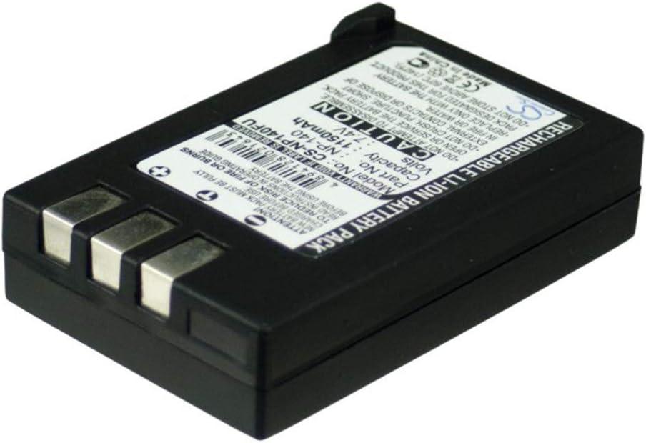 Color : Black, Size : 55.90 x 35.62 x 13.30mm Aiyawear-C Battery Camera 1150mAh//8.51Wh 7.4V Camera Battery for MINOLTA MBH-NP-1 NP-1 NP-1H Dimage X1 Photo Battery