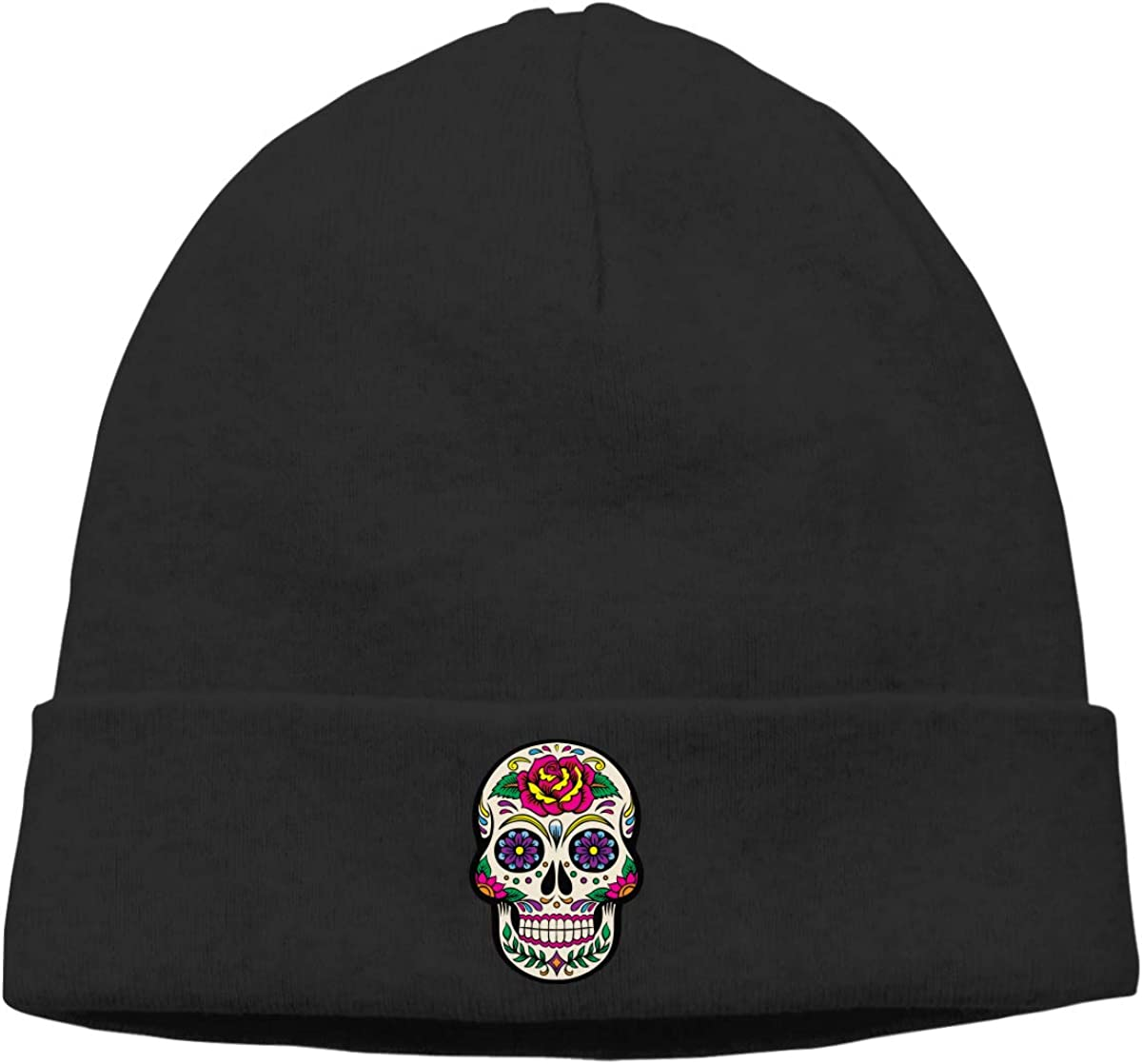 Giant Sugar Skulls Beanie Hat Daily Knit Cap for Mens and Womens
