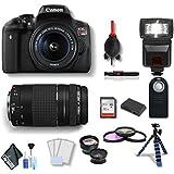 Canon EOS Rebel T6i DSLR Camera 18-55mm Lens Canon EF-S 75-300mm Lens Combo Kit